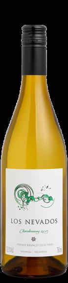 Foto da garrafa do vinho branco Los Nevados Chardonnay
