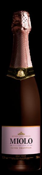 Foto da Garrafa do Espumante Miolo Demi Sec Cuvée Tradition Brut Rosé